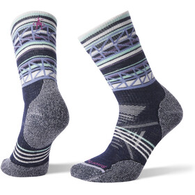 Smartwool PhD Outdoor Medium Pattern Crew Socks Women Deep Navy